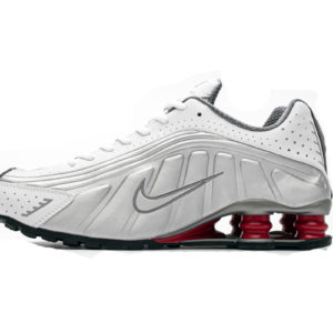 Nike Shox R4 Silver Comet Red