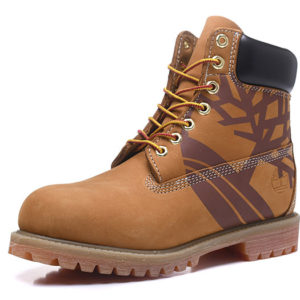 TIMBERLAND  Boots Brown Tree Pattern