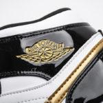"Air Jordan 1 Mid ""Black Gold Patent Leather"