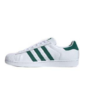 adidas Superstar White Green